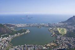 Aerial View of Rio De Janeiro. Aerial view of Lagoa at rio de janeiro, brasil Royalty Free Stock Photo