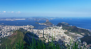 Aerial view of Rio de Janeiro and mountain Sugar Loaf Stock Photos