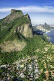 Aerial view of Rio de Janeiro's Pedra da Gavea Mountain Stock Image