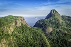 Aerial view of Rio de Janeiro's Pedra da Gavea Mountain Royalty Free Stock Image