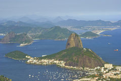 Aerial View of Rio De Janeiro Royalty Free Stock Photos