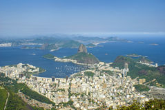 Aerial View of Rio De Janeiro. Aerial view of sugarloaf mountain at rio de janeiro, brasil Royalty Free Stock Images