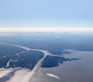 Aerial view of Rio de la Plata Royalty Free Stock Images
