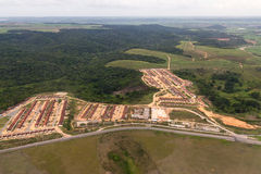 Aerial view of Rio Largo in Alagoas, Brazil.  Stock Photography