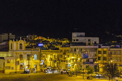Aerial View of Riobamba City at Night Royalty Free Stock Images