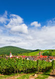 Aerial view of Riquewihr village Stock Photo