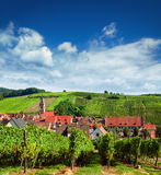 Aerial view of Riquewihr village Royalty Free Stock Image
