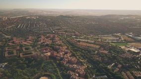 Aerial view of Rivas-Vaciamadrid, a city in the Community of Madrid, Spain. Aerial view of Rivas-Vaciamadrid, a city in the Community of Madrid stock video footage