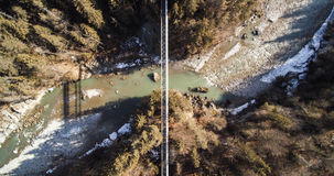 Aerial View of River Royalty Free Stock Photos