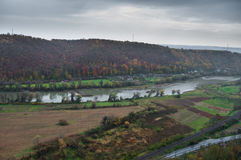 Aerial view of a river in autumn Stock Photography