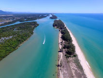 Aerial view river estuary Stock Image