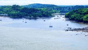 A river that leads to the St. Lawrence River royalty free stock photos