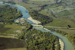 Aerial view of the river Royalty Free Stock Photography