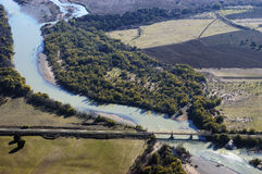 Aerial view of the river Stock Image