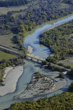 Aerial view of the river Stock Photography
