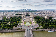 Aerial View on River Seine and Trocadero From the Eiffel Tower Royalty Free Stock Image