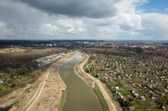 Aerial view of the river Royalty Free Stock Image