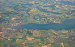 Aerial view of River Stour, Suffolk, UK Royalty Free Stock Image
