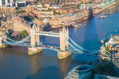 Aerial view of the River Thames in London Stock Photo