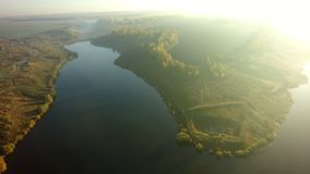 Aerial view on the river and tree in. Aerial view on the river and tree stock image