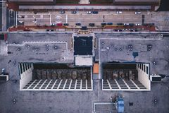 Aerial View of Road and Building in Camden New Jersey royalty free stock photo