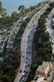 Aerial View of a Road in Cap-d'Ail, France Stock Photo