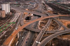 Aerial View of the road Royalty Free Stock Images