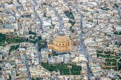 Aerial view of road in Malta island. Aerial view of roads in Malta island Royalty Free Stock Photography