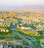 Aerial view road Tehran. Iran Royalty Free Stock Photos