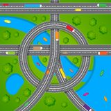 Aerial View of Road Traffic Stock Images