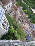 AERIAL VIEW OF ROCAMADOUR Stock Photo