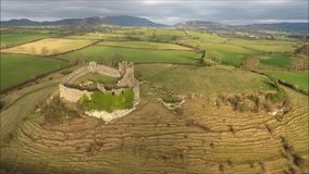 Aerial view. Roche castle. Dundalk. Ireland stock video