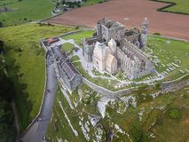 Aerial view. Rock of Cashel.county Tipperary. Ireland. Medieval castle. Aerial view of the Rock of Cashel. county Tipperary. Ireland Stock Photography