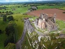 Aerial view. Rock of Cashel.county Tipperary. Ireland. Medieval castle. Aerial view of the Rock of Cashel. county Tipperary. Ireland Stock Photo