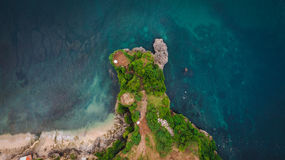 Aerial view on rock cliff and shore Stock Photo