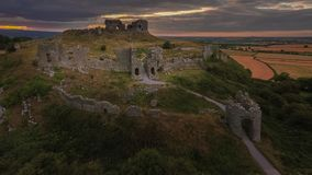 Aerial view. Rock of Dunamase. Portlaoise. Ireland stock photo