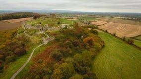 Aerial view. Rock of Dunamase. Portlaoise. Ireland Stock Photo