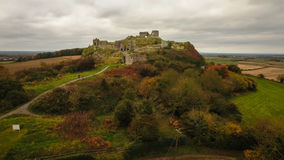 Aerial view. Rock of Dunamase. Portlaoise. Ireland Royalty Free Stock Photos
