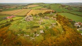 Aerial view. Rock of Dunamase. Portlaoise. Ireland Royalty Free Stock Image