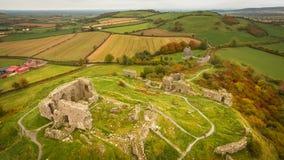 Aerial view. Rock of Dunamase. Portlaoise. Ireland Royalty Free Stock Images
