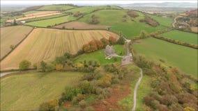 Aerial view. Rock of Dunamase. Portlaoise. Ireland stock footage