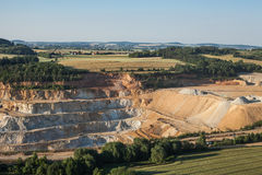 Aerial view of rock quarry Royalty Free Stock Image