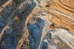 Aerial view of rock quarry Stock Photos