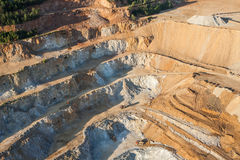 Aerial view of rock quarry Royalty Free Stock Photos