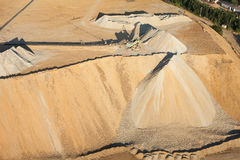 Aerial view of rock quarry Stock Images