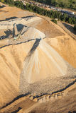 Aerial view of rock quarry Stock Photography
