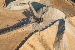 Aerial view of rock quarry Royalty Free Stock Photo