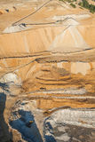 Aerial view of rock quarry Stock Image