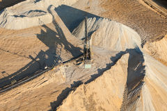 Aerial view of rock quarry Royalty Free Stock Images
