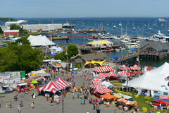 Aerial view of Rockland Harbor, Maine Stock Image